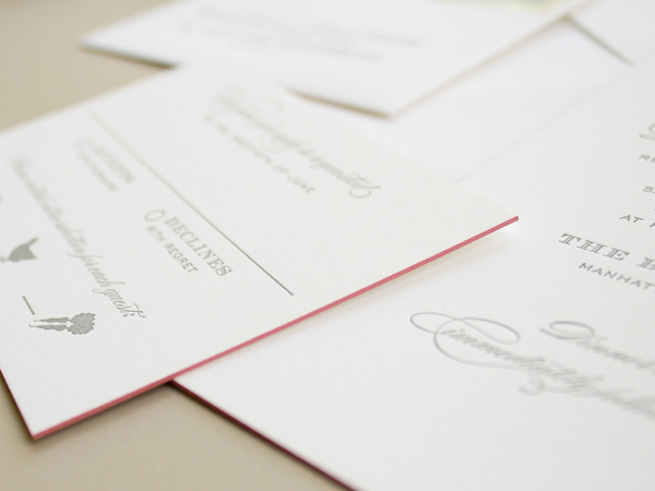 Traditional Romantic Wedding Invitations Banter and Charm OSBP6 Carolyn + Daves Traditional Romantic Wedding Invitations