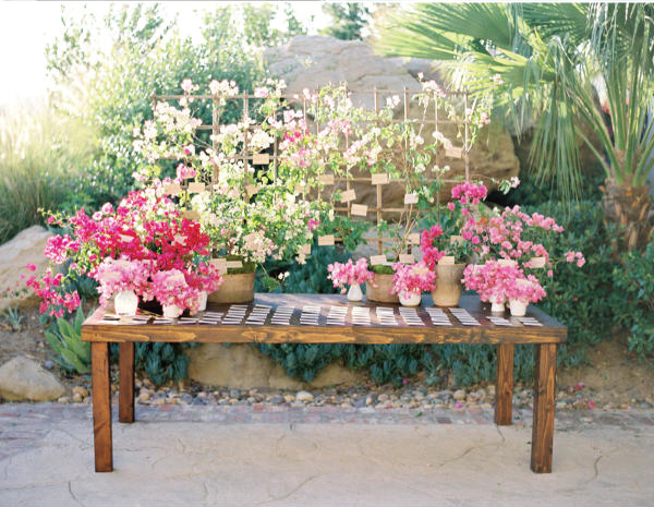 escort card display Wedding Stationery Inspiration: Bougainvillea