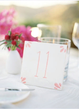 watercolor table numbers Wedding Stationery Inspiration: Bougainvillea