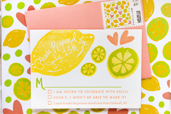 Citrus Bridal Shower Invitations StudioDIY 9thLetterPress OSBP5 Kellys Citrus Inspired Bridal Shower Invitations