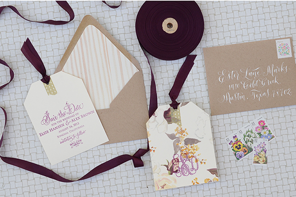 Floral Tag STD Final DIY Tutorial: Floral Save the Date Tags