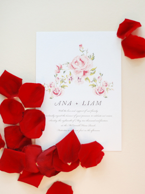 Soft Floral Wedding Invitations Umama OSBP11 Ana + Liams Soft Floral Wedding Invitations