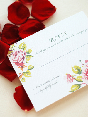 Soft Floral Wedding Invitations Umama OSBP5 Ana + Liams Soft Floral Wedding Invitations