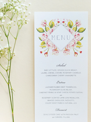 Soft Floral Wedding Invitations Umama OSBP7 Ana + Liams Soft Floral Wedding Invitations