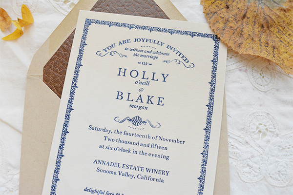 Autumn Literary Wedding Invitations Flyaway Paperworks OSBP9 Holly + Blakes Antique Book Inspired Wedding Invitations