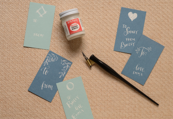 DSC 5337 1 DIY Tutorial: Calligraphy Gift Tags