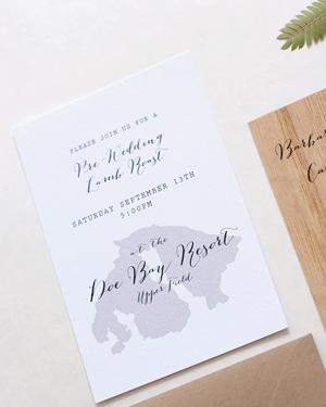 Wood Veneer Wedding Invitation Anelise Salvo Design OSBP4 Abby + Frewins Modern Rustic Wood Veneer Wedding Invitations
