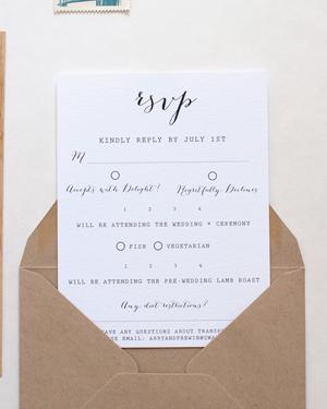 Wood Veneer Wedding Invitation Anelise Salvo Design OSBP5 Abby + Frewins Modern Rustic Wood Veneer Wedding Invitations