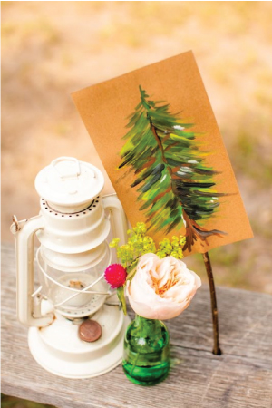camp inspired stationery 8 Wedding Stationery Inspiration: Camping in the Woods