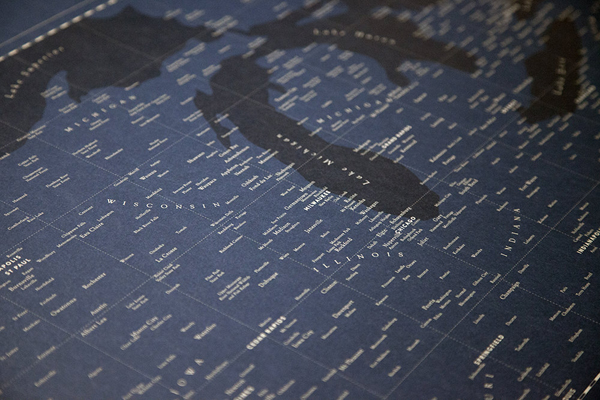 Design Ahoy Typographic Heartland Map21 Quick Pick: Design Ahoy Typographic Heartland Map