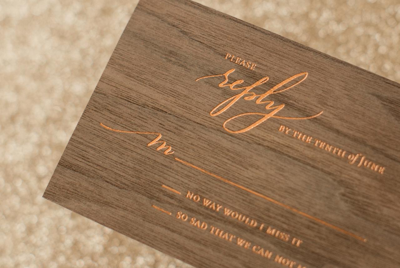 embellished wedding invitations wood wedding invitations Embellished Wedding Invitations