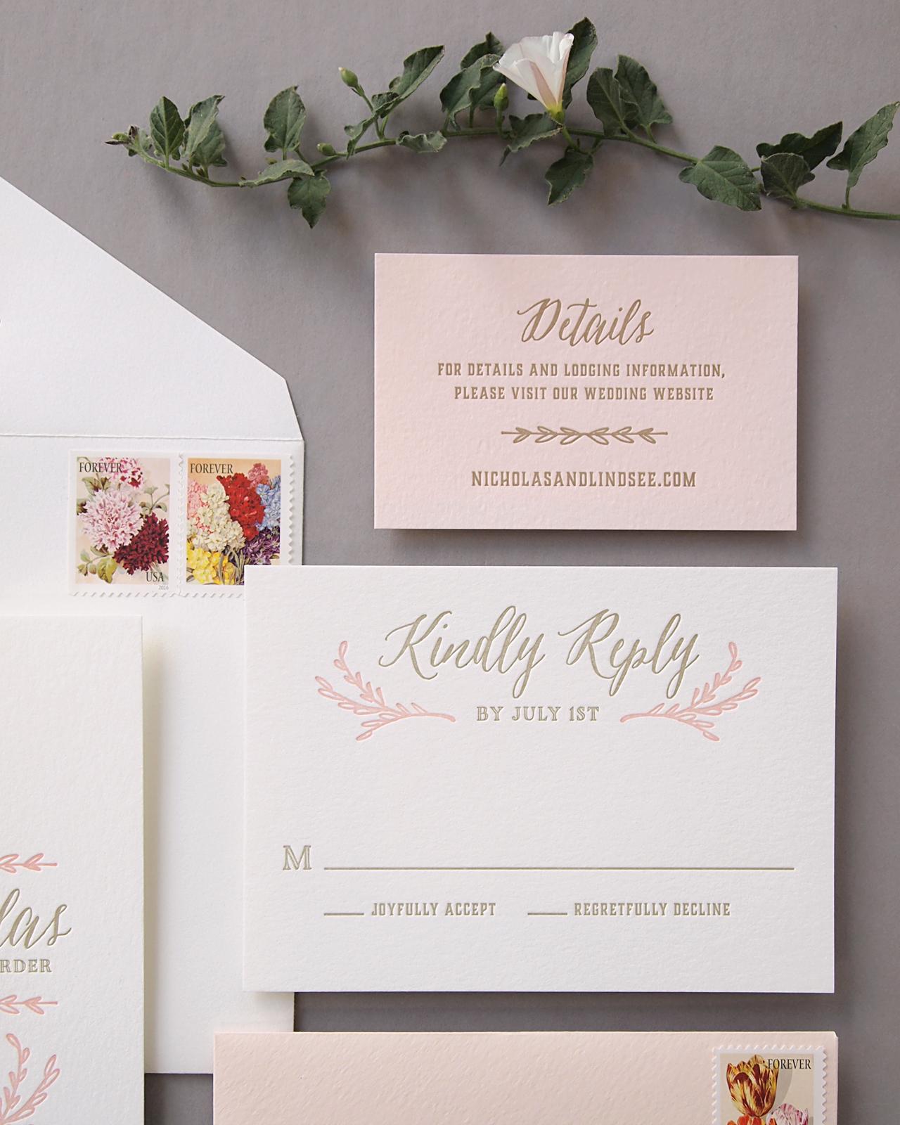 elegant blush and gold letterpress wedding invitations blush wedding invitations Elegant Blush and Gold Letterpress Wedding Invitations by Missive