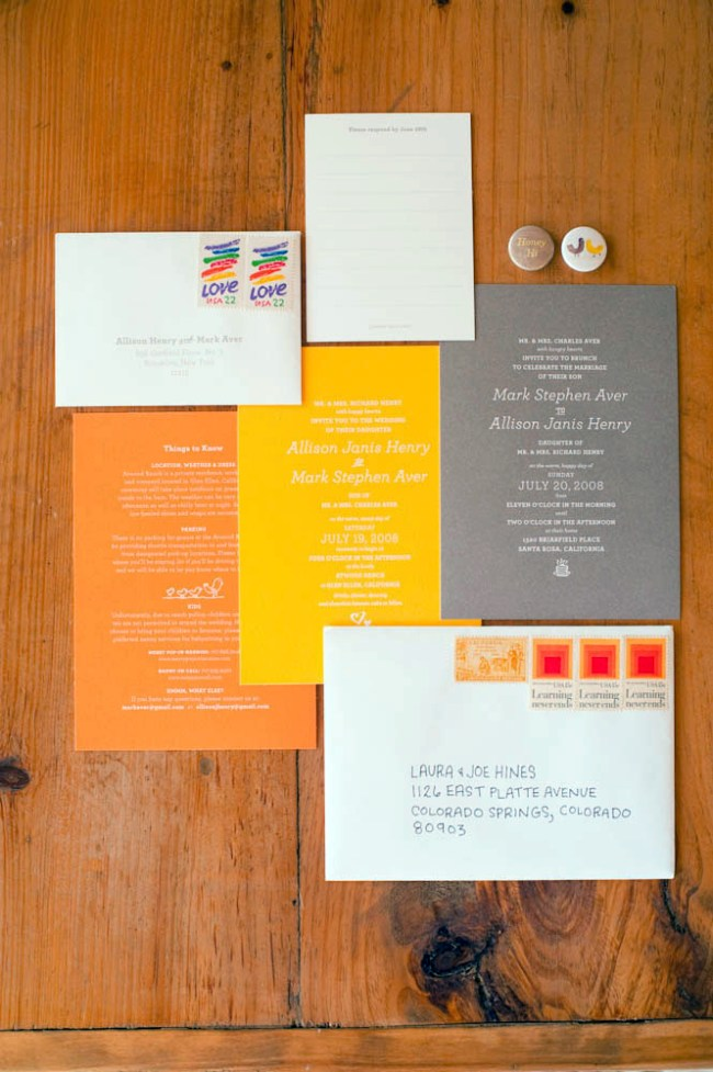 6a00e554ee8a22883301156f65f588970c pi Allison + Marks Vibrant and Modern Wedding Invitations