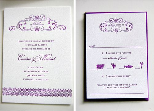 6a00e554ee8a2288330115707018ba970c 500wi Purple + Gold Wedding Invitations
