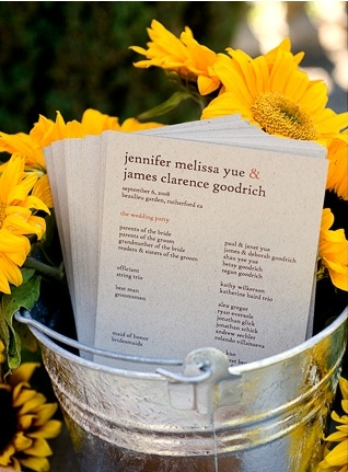 6a00e554ee8a2288330120a539d28f970c 500wi Jennifer + James Sunflower Wedding Invitations