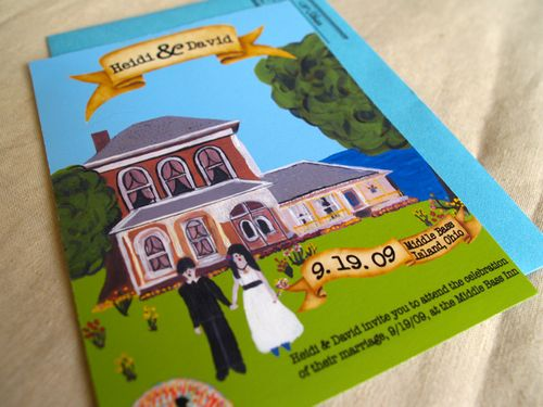 6a00e554ee8a2288330120a540ab91970b 500wi Heidi + Davids Quirky DIY Illustrated Wedding Invitations
