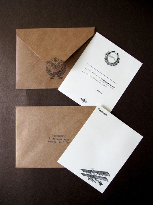 6a00e554ee8a2288330120a5ead01d970c 500wi Caitlin + Josephs Vintage Aviation Wedding Invitations
