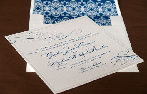 6a00e554ee8a2288330120a651af51970b 500wi Cyd + Michaels Classic Elegant Wedding Invitations