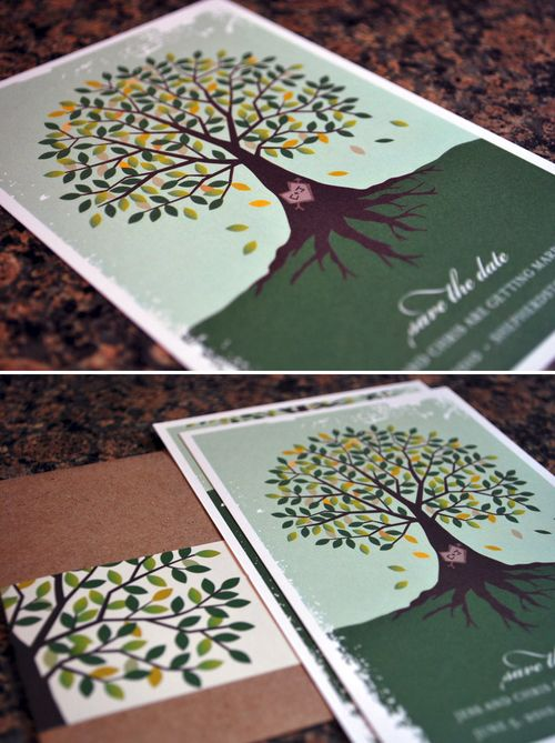 6a00e554ee8a2288330120a7a0a019970b 500wi Jessie + Chriss Illustrated Tree Wedding Save the Dates
