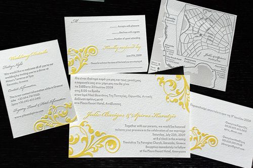 6a00e554ee8a2288330120a7c6e243970b 500wi Julie + Spiros Bilingual Greek Wedding Invitations