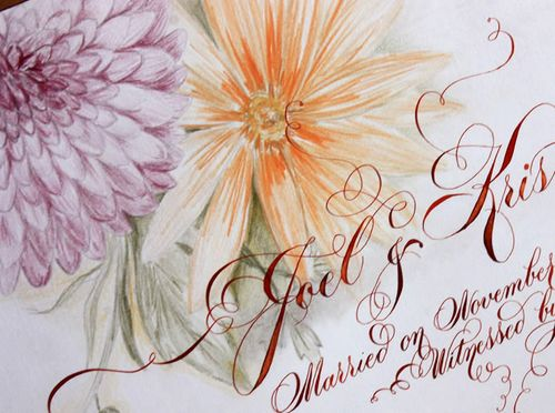 6a00e554ee8a2288330120a855c810970b 500wi Romantic Calligraphy from Danae Hernandez