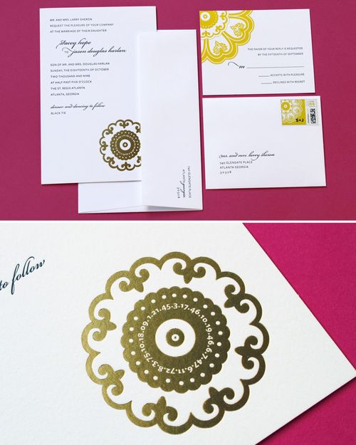 6a00e554ee8a2288330128773f7355970c 500wi Stacey + Jasons Modern Yellow and Gold Wedding Invitations