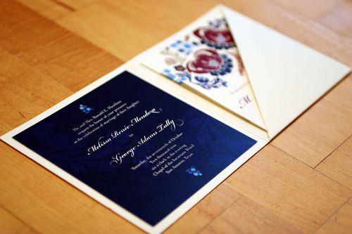 6a00e554ee8a22883301310f8a87e0970c 500wi Melissa + Georges Vibrant Folk Art Wedding Invitations