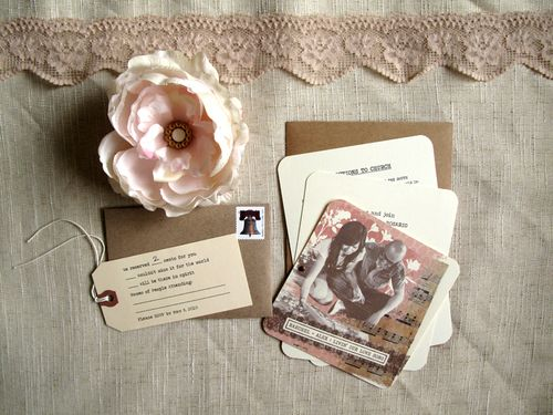 6a00e554ee8a2288330133ec5c4b0c970b 500wi Raechel + Alexs Crafty Doily and Kraft Paper Wedding Invitations
