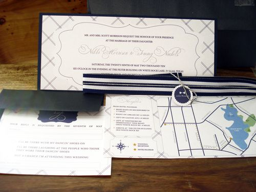 6a00e554ee8a2288330133ec76c5b2970b 500wi Nikki + Tommys Nautical Blue and White Wedding Invitations
