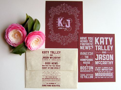 6a00e554ee8a2288330133ec89a158970b 500wi Katy + Jasons Screen Printed Save the Dates