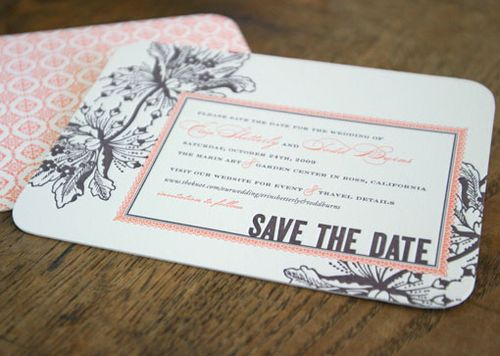6a00e554ee8a2288330133ec9fb954970b 500wi Vintage Inspired Coral + Pewter Wedding Invitations