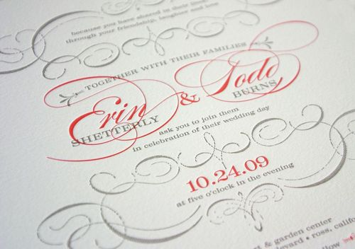 6a00e554ee8a2288330133ec9fb9cb970b 500wi Vintage Inspired Coral + Pewter Wedding Invitations