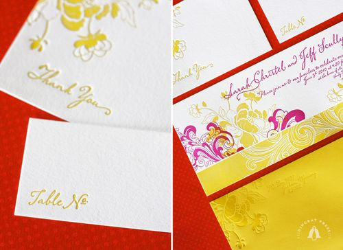 6a00e554ee8a22883301347fd57df9970c 500wi Sarah + Jeffs Modern Floral Pink and Yellow Wedding Invitations