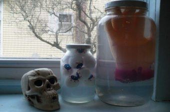 Glowing Mad Scientist Jars