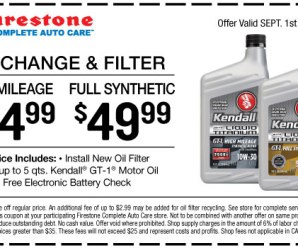 How much is a Firestone oil change