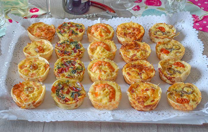 Tartaletas con 5 rellenos