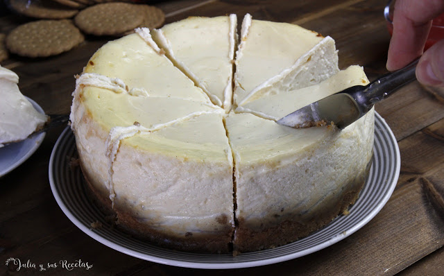 Tarta de queso muy cremosa SIN HARINA