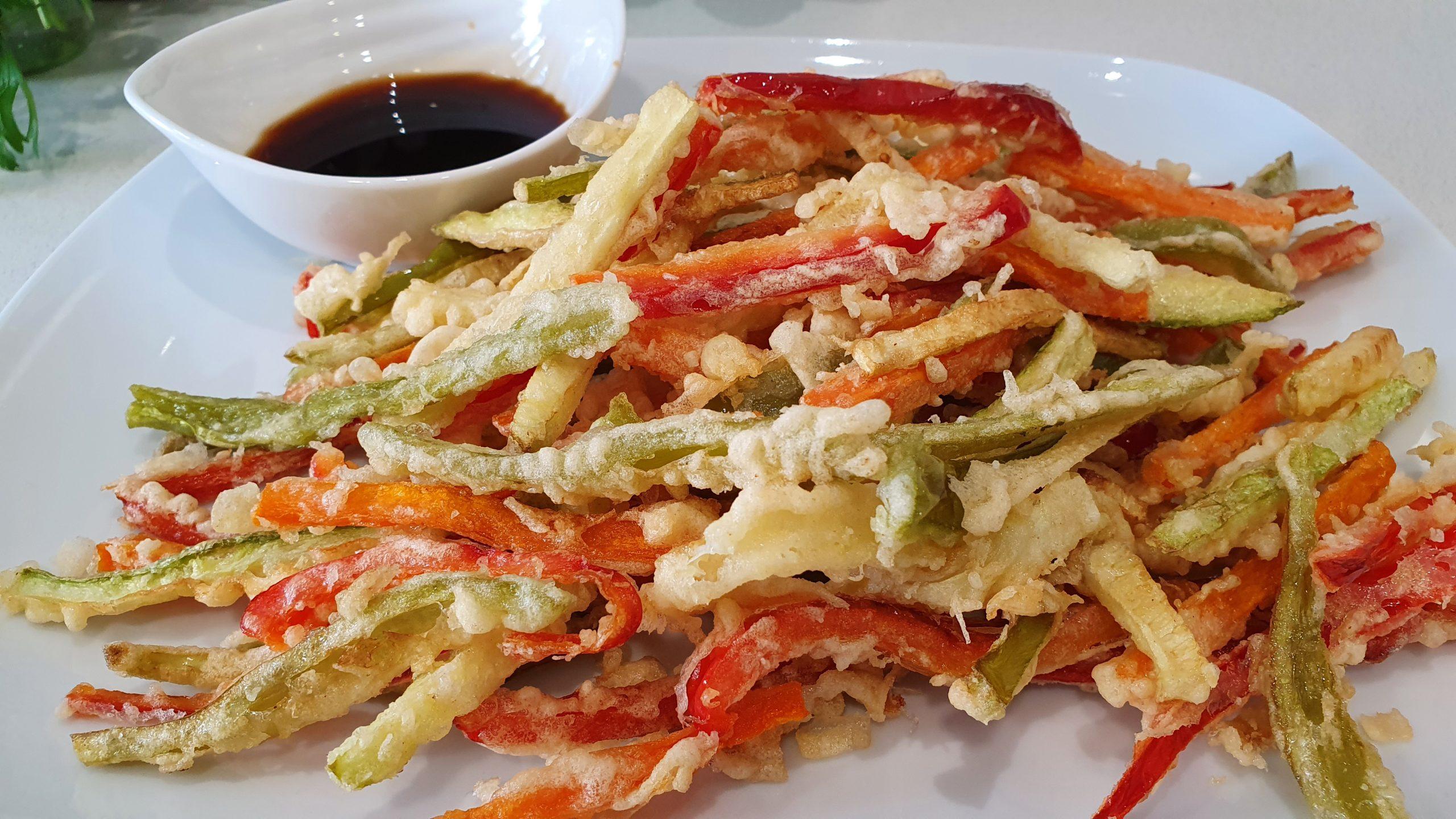 Verduras en tempura. Receta fácil en 10 minutos