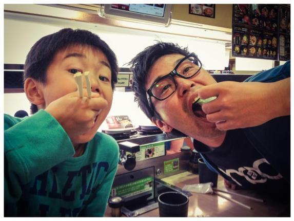 Sushi with my nephew, Manato