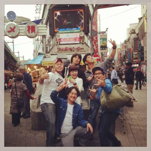 High school reunion at Ueno, Tokyo