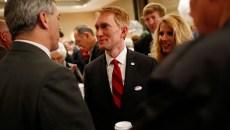 Sen. James Lankford addresses Election Day watch partygoers last week at Tower Hotel Oklahoma City. (Garett Fisbeck)