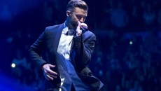 Justin Timberlake performs at the Chesapeake Energy Arena as part of his 20/20 Experience world tour, December 5th, 2014. (Steven Anthony Hammock)