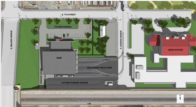 A rendering of the proposed streetcar facility. (Provided)