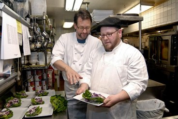 Coach House FILE Chef and apprentice Kirt Fleischfresser & Brandon Hall 05mh