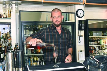 Bar tender at Flips.  mh