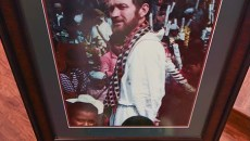 A portrait for Father Stanley Rother on display during the Anniversary Mass for him, at Holy Trinity Church in Okarche Oklahoma on August 1st.  mh