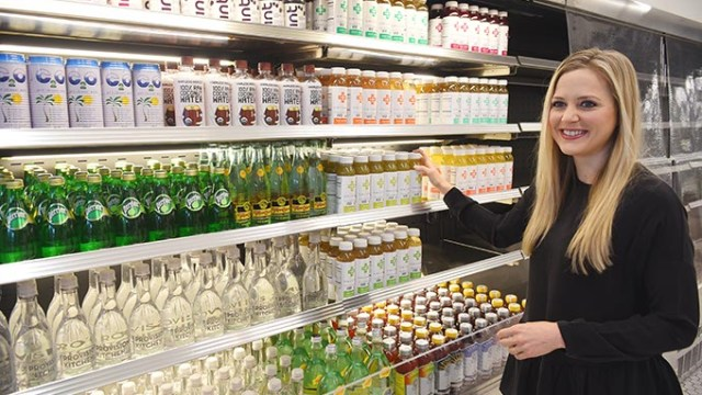 Owner Whitney McClendon with the grab-and-go section at Provision Kitchen in Nichols Hills Plaza, 10-1-15.  (Mark Hancock)