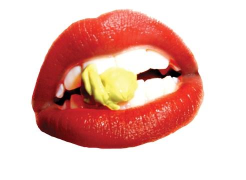 Rocky Horror Picture Show-esque mouth cutout