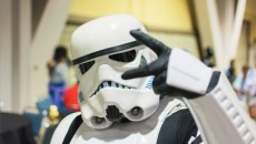 Long Beach CA - USA - September 12 2015: Star Wars Storm Trooper costume at The Long Beach Comic Con held at the Long Beach Convention Center.