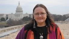 !SSH - at NMAI with Capitol in background 2-28-11  by Lucy  Fowler Williams Suzan Harjo 1